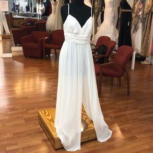 Ivory bridesmaid pants dress